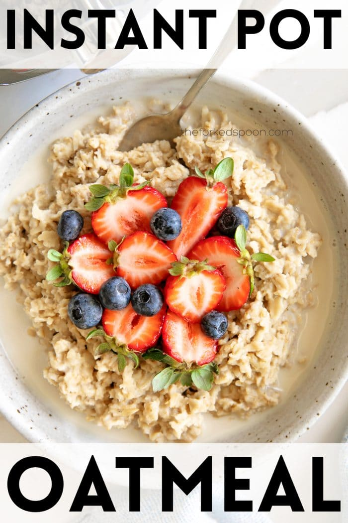 Instant Pot Oatmeal Recipe Pinterest pin image collage