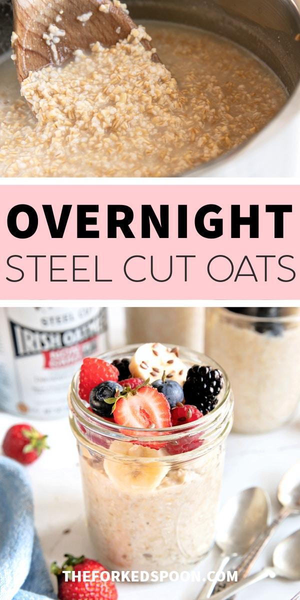 Easy Overnight Steel Cut Oats Pinterest pin